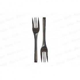 Tenedores Negros Paquete x10