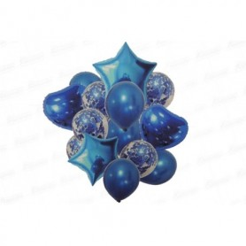 Globo Ramillete Cromado Azul Rey