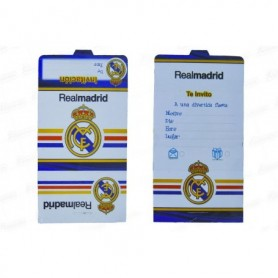 Tarjeta de Invitación Real Madrid Paquete x12