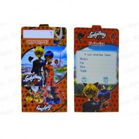 Tarjeta de Invitación Lady Bug Paquete x12