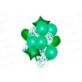 Globo Ramillete Verde x12