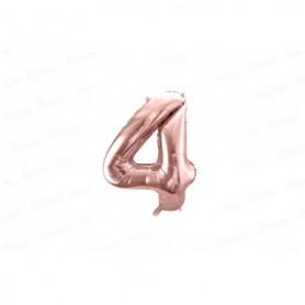 Globo Metalizado Pequeño Rosado Número 4