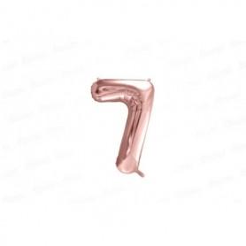 Globo Metalizado Pequeño Rosado Número 7