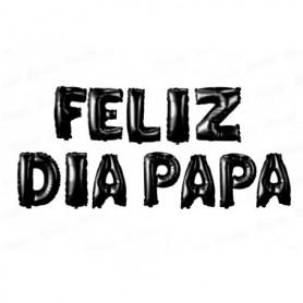 Globo Letrero Feliz Día Papá Negro