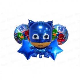 Globo Ramillete Heroes en Pijama Azul