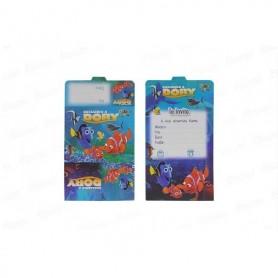 Tarjeta de Invitación Buscando a Nemo x12