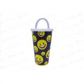 Vaso Pitillo de 13cm Emoticones