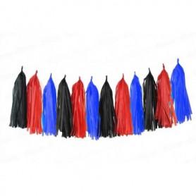 Guirnalda Negro - Rojo - Azul