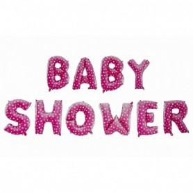 Globo Letrero Baby Shower Niña