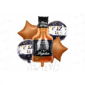 Globo Ramillete Botella Whisky