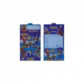 Tarjeta de Invitación Sonic Paquete x12