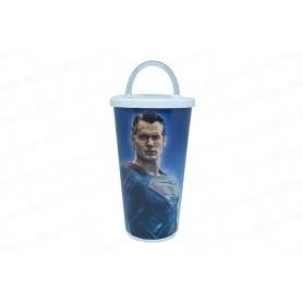 Vaso Pitillo de 13cm Superman
