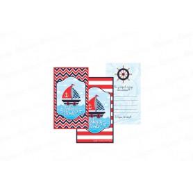 Tarjeta de Invitación Marinero Paquete x10
