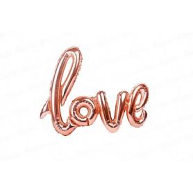 Globo Letrero Love Palo de rosa