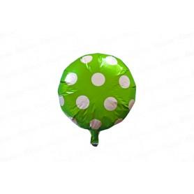Globo Metalizado Polka Verde