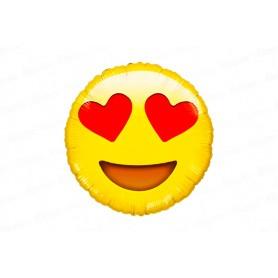 Globo Emoticones Carita Enamorado