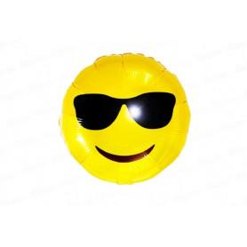 Globo Emoticones Carita Gafas