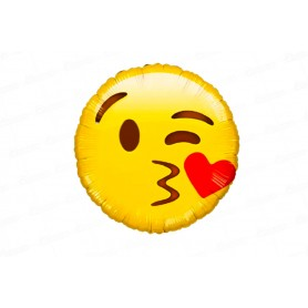Globo Emoticones Carita Beso