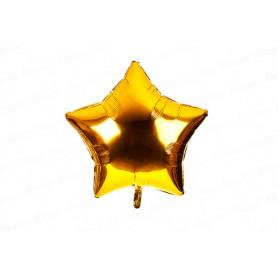 Globo Metalizado Estrella Dorado