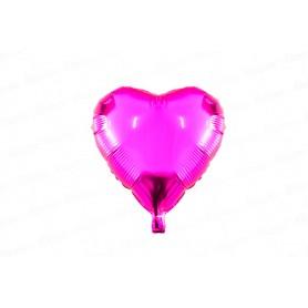 Globo Metalizado Corazón Fucsia