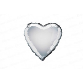 Globo Metalizado Corazón Plateado