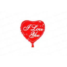 Globo Metalizado Corazón I Love You