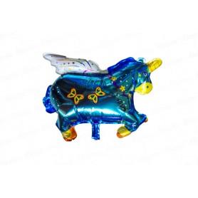 Globo Unicornio Grande Azul