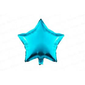 Globo Metalizado Estrella Azul Mate