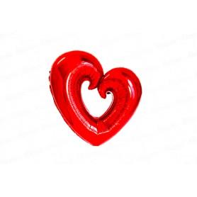Globo Corazón Sin Centro Rojo
