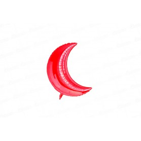 Globo Luna Metalizado Pequeño Rojo