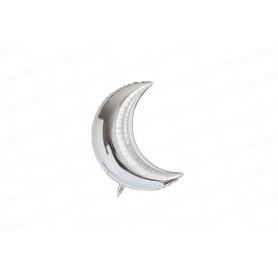 Globo Luna Metalizado Pequeño Plateado