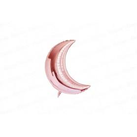 Globo Luna Metalizado Pequeño Rosado