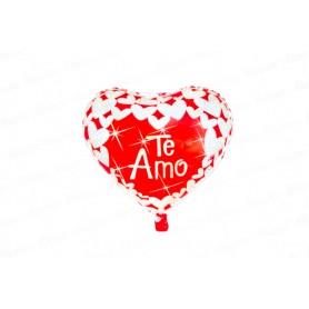 Globo Corazón Rojo - Plateado