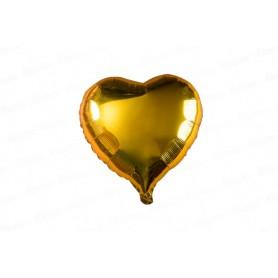 Globo Metalizado Corazón Dorado