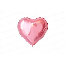 Globo Metalizado Corazón Palo de Rosa