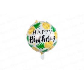 Globo Metalizado Happy Birthday Piña