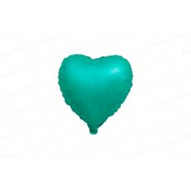 Globo Cromado Corazón Verde