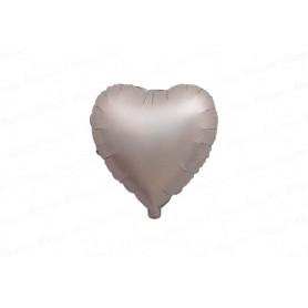 Globo Cromado Corazón Plateado