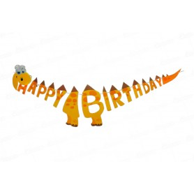 Letrero Happy Birthday Jirafa