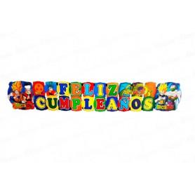 Letrero Grande Feliz Cumpleaños Dragon Ball Z