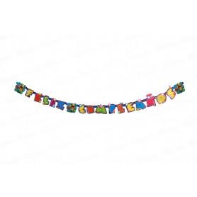 Letrero Feliz Cumpleaños El Mundo de Jake Party