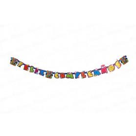 Letrero Feliz Cumpleaños Paw Patrol Party