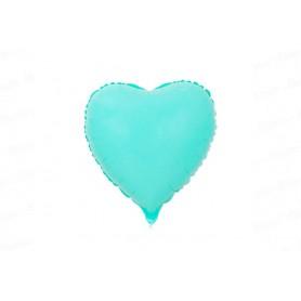Globo Corazón Azul Menta