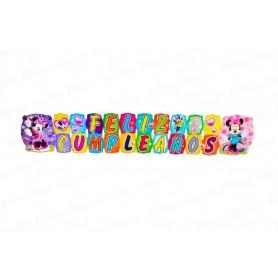 Letrero Feliz Cumpleaños Minnie