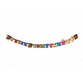 Letrero Feliz Cumpleaños Mickey Mouse