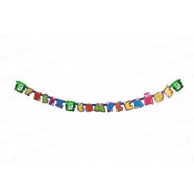 Letrero Feliz cumpleaños Atlético Nacional