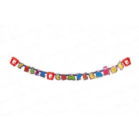Letrero Feliz Cumpleaños Independiente Santa Fe