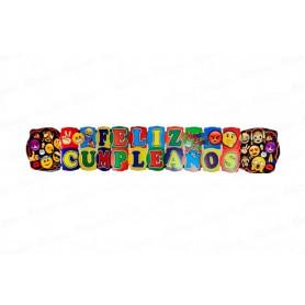 Letrero Grande Emoticones Feliz Cumpleaños