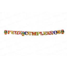 Letrero Feliz Cumpleaños CyM Hawaiano