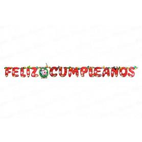 Letrero Feliz Cumpleaños CyM Independiente Santa Fe